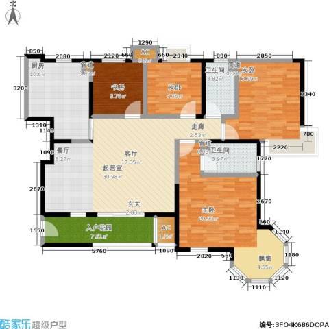 朗钜天域4室0厅2卫1厨160.00㎡户型图