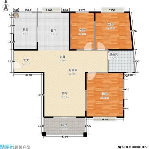 �泰华秀苑3室0厅1卫1厨120.00㎡户型图