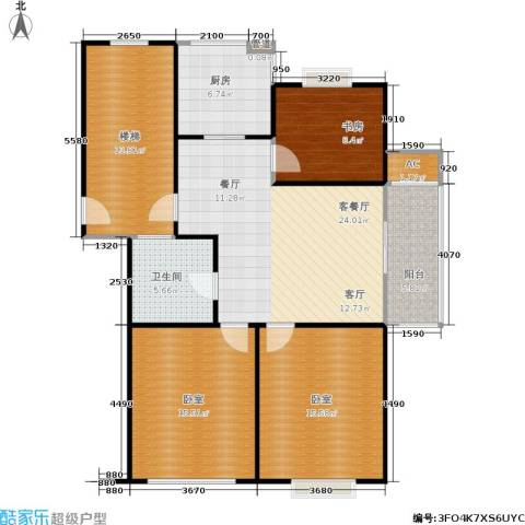 塞纳名邸1室1厅1卫1厨101.00㎡户型图