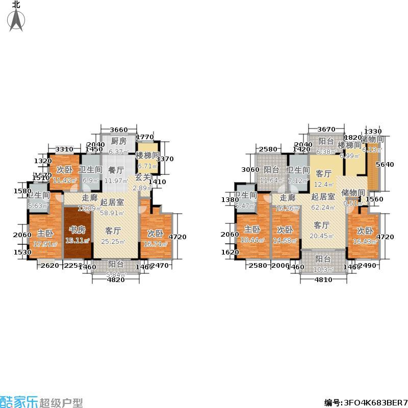 得一剑桥城318.00㎡M户型 八室两厅四卫户型8室2厅4卫