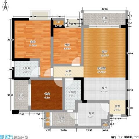 东和城3室0厅2卫1厨132.00㎡户型图