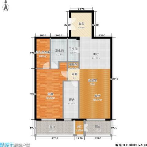 五栋大楼1室0厅2卫1厨113.00㎡户型图