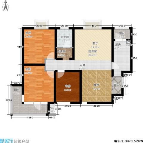 发祥福邸3室0厅1卫1厨128.00㎡户型图