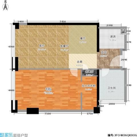 珠江时代广场1室1厅1卫0厨104.00㎡户型图