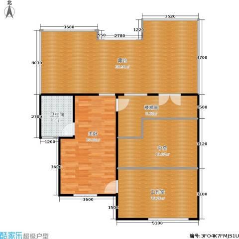 中冶东山庭院1室0厅1卫0厨175.00㎡户型图