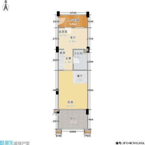 洱海传奇1室0厅1卫0厨67.00㎡户型图