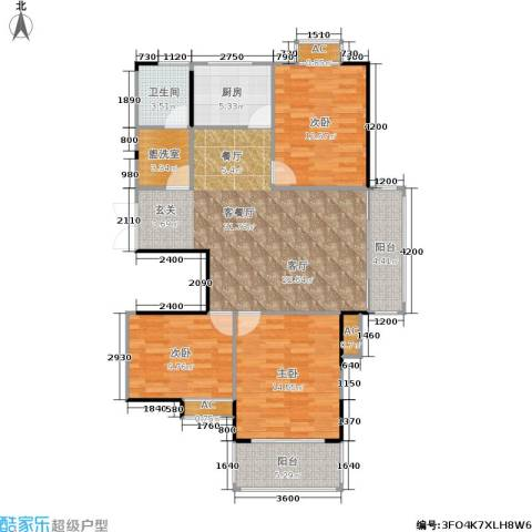 金联居3室1厅1卫1厨115.00㎡户型图