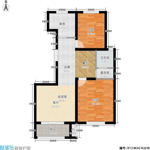 发祥福邸2室0厅1卫1厨100.00㎡户型图