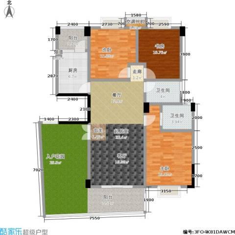 湘江北尚3室0厅2卫1厨139.00㎡户型图