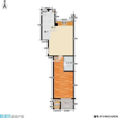 锡春华庭1室1厅1卫0厨85.00㎡户型图