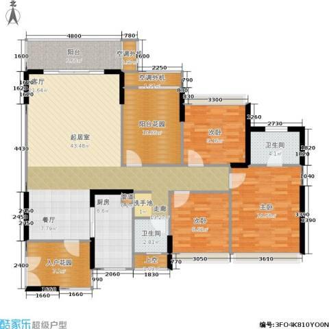双水湾3室0厅2卫1厨139.00㎡户型图