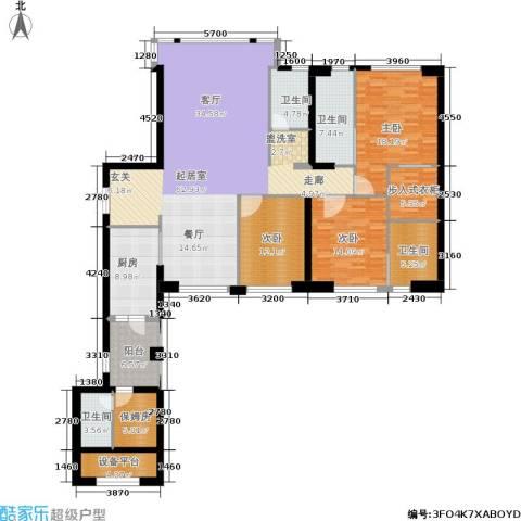 中骏天峰3室0厅4卫1厨190.00㎡户型图