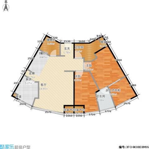 月半湾2室1厅2卫1厨79.00㎡户型图