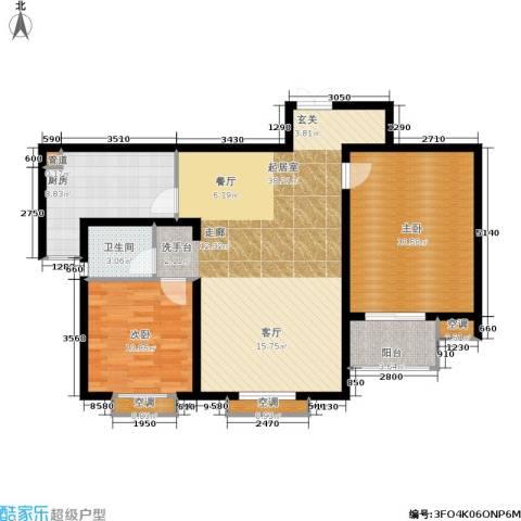 锦绣泉城2室0厅1卫1厨97.00㎡户型图