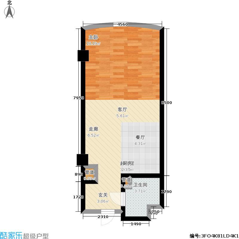 君悦豪庭48.19㎡户型