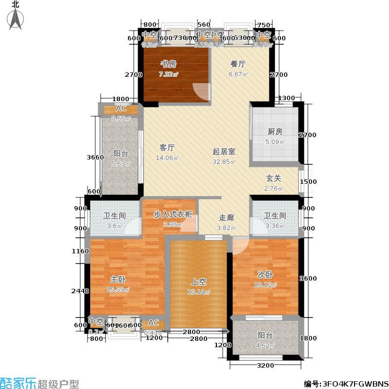 博仕后龙港城118.00㎡11#楼05单元 建筑面积:约118平米户型3室2厅2卫
