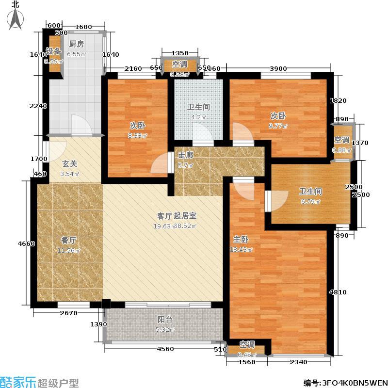 中齐未来城花园洋房4号楼B3户型