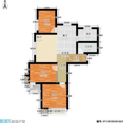 昕瑞家园3室0厅1卫1厨105.00㎡户型图