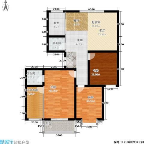 金河凤鸣山庄3室0厅2卫1厨149.00㎡户型图