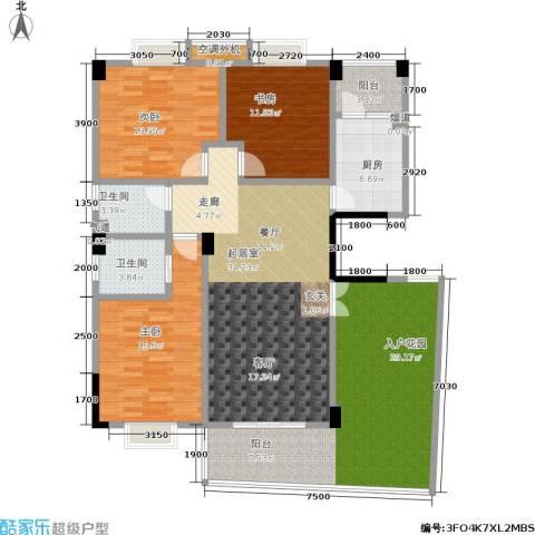湘江北尚3室0厅2卫1厨173.00㎡户型图
