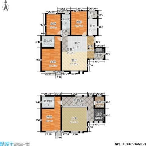 海泰海港花园4室1厅3卫1厨194.00㎡户型图