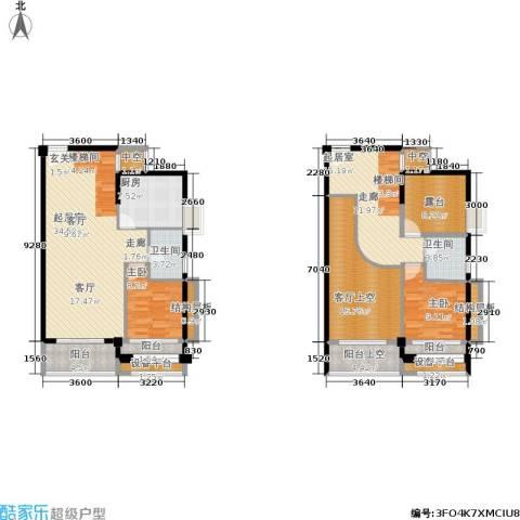 泉舜泉水湾2室0厅2卫1厨131.00㎡户型图