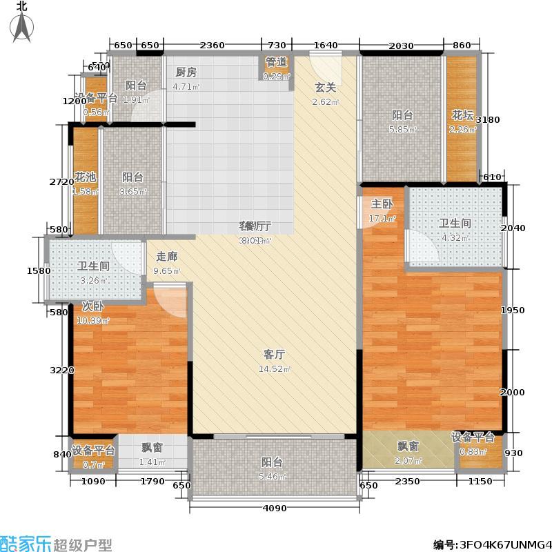 荣和摩客社区户型2室1厅2卫