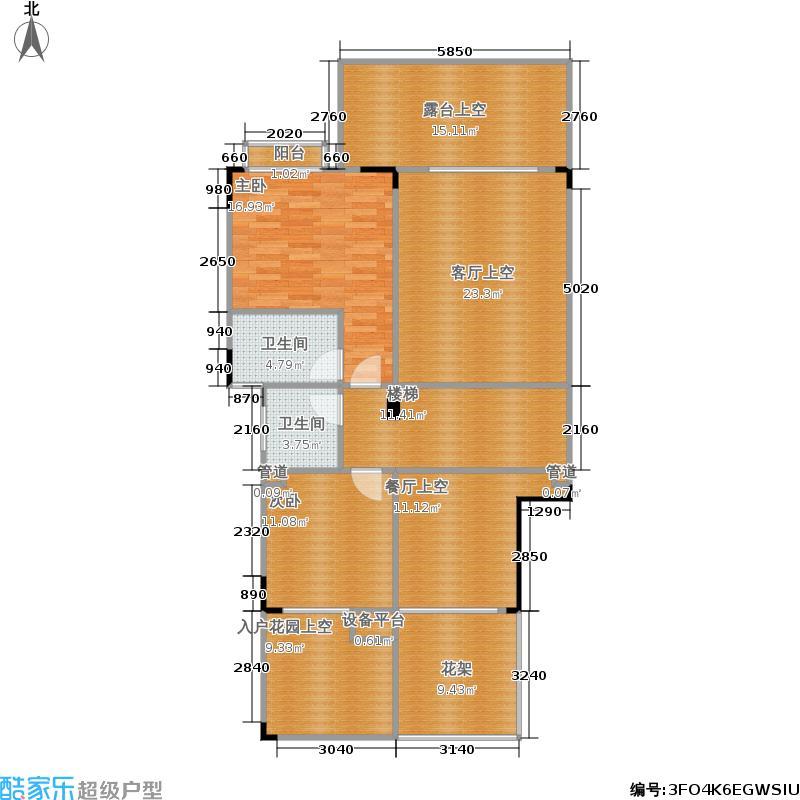 世纪海景245.00㎡二房一厅一卫户型