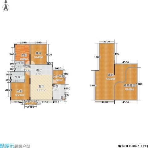城南未来2室1厅2卫1厨157.36㎡户型图