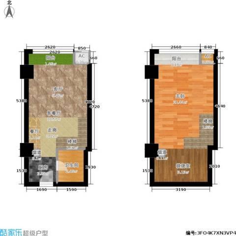 阅城新尚广场 阅城1室1厅1卫0厨50.00㎡户型图