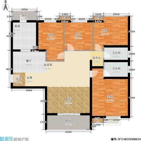 锦绣泉城4室0厅2卫1厨190.00㎡户型图