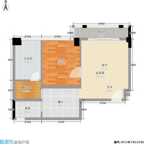 中骏天峰1室0厅1卫1厨79.00㎡户型图