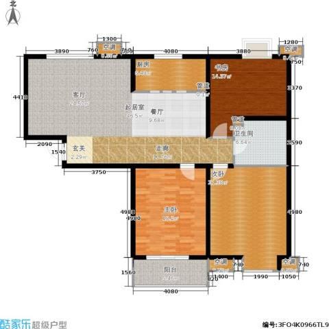 锦绣泉城3室0厅1卫1厨170.00㎡户型图
