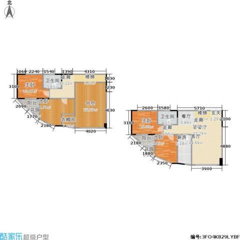 聚维书香世家4室1厅2卫1厨130.82㎡户型图