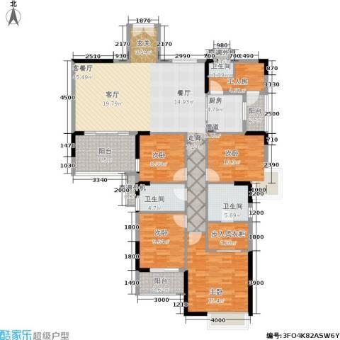 鼎盛时代广场4室1厅3卫1厨185.00㎡户型图