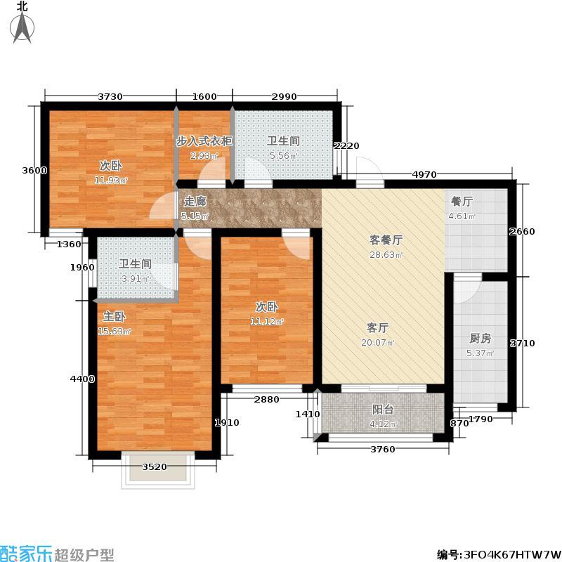 泉景天沅119.00㎡泉景天沅119.00㎡3室2厅2卫户型3室2厅2卫