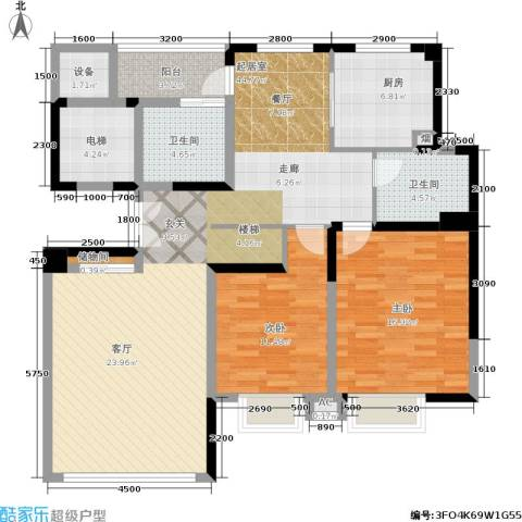 天一城2室0厅2卫1厨143.00㎡户型图