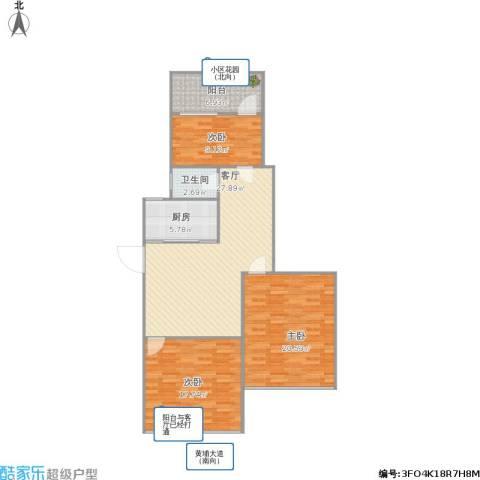 尚雅苑3室1厅1卫1厨121.00㎡户型图