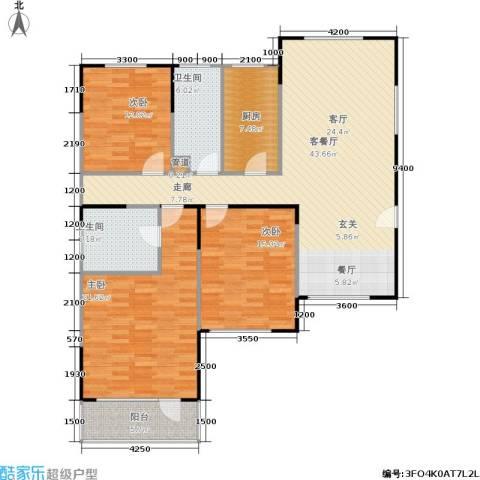 山大新苑3室1厅2卫1厨158.00㎡户型图