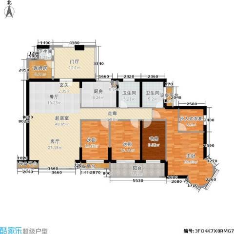 海晟维多利亚4室0厅3卫1厨191.00㎡户型图
