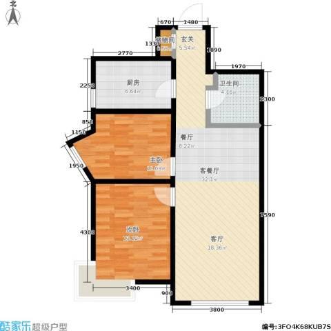 华润橡树湾2室1厅1卫1厨94.00㎡户型图