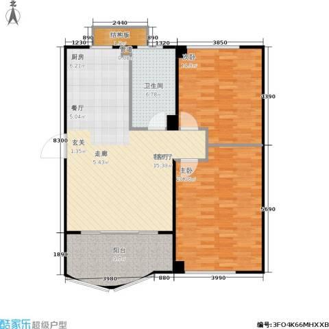 蠡湖香榭2室1厅1卫0厨93.00㎡户型图