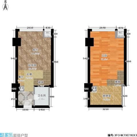 阅城新尚广场 阅城1室0厅1卫0厨50.00㎡户型图
