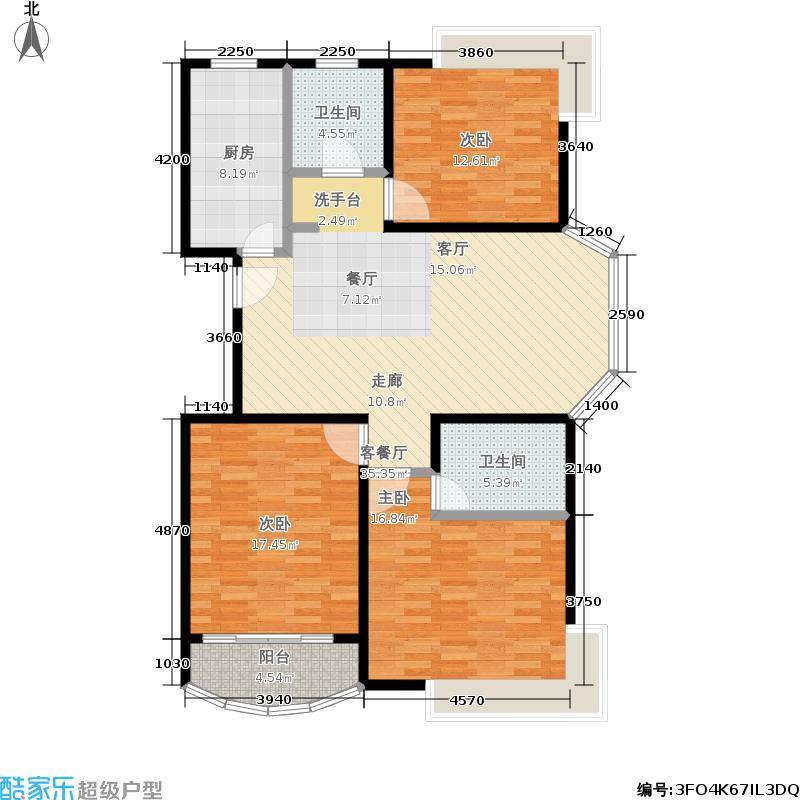 天山中华园117.57㎡房型: 三房; 面积段: 117.57 -117.57 平方米;户型