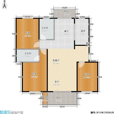 宝城名苑1厅2卫1厨112.12㎡户型图