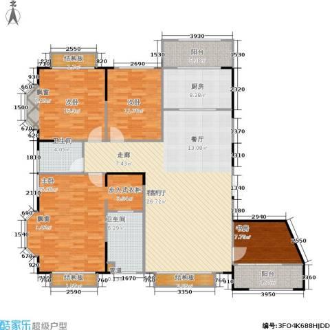蠡湖香榭4室1厅2卫1厨142.34㎡户型图