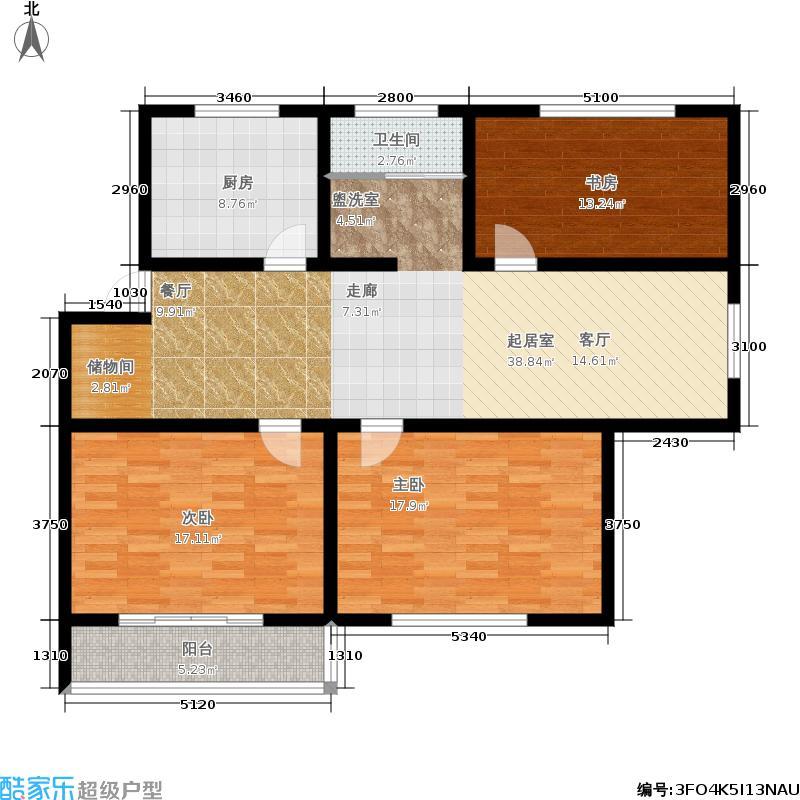 华夏名都华夏名都户型图118.32平方米(11/30张)户型10室