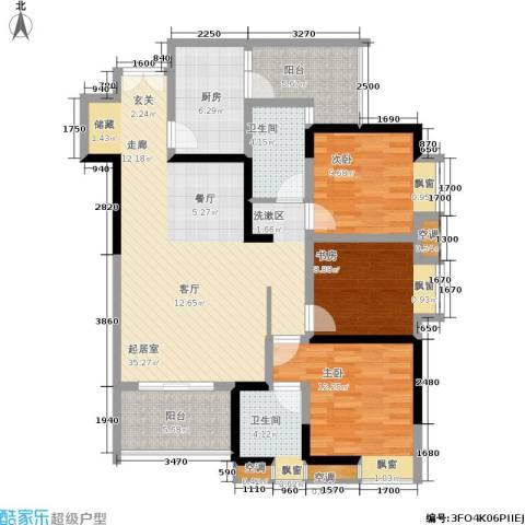 天工太阳岛3室0厅2卫1厨137.00㎡户型图