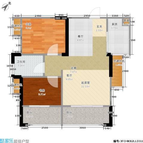 双水湾2室0厅1卫1厨72.00㎡户型图