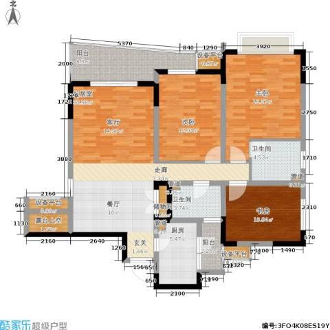 上海城二期3室0厅2卫1厨149.00㎡户型图